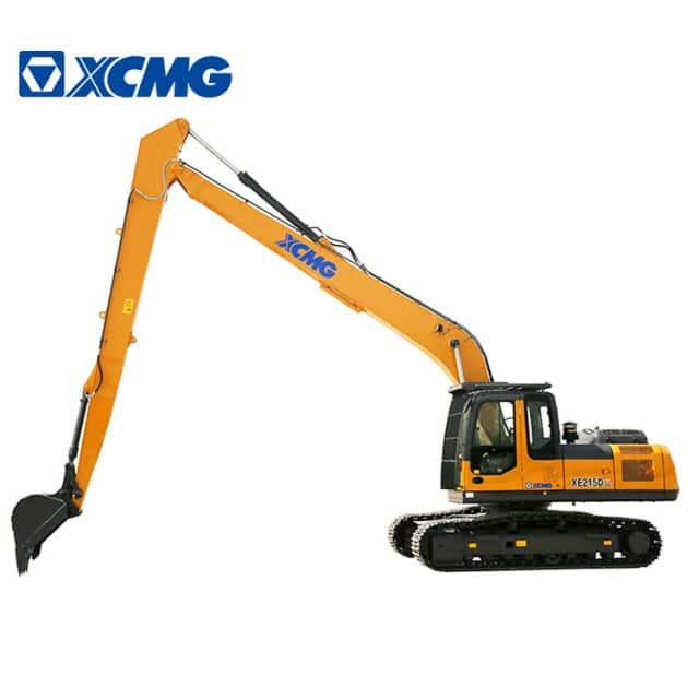 XCMG Long Boom Excavator 20 ton New Hydraulic Excavators with Cummins Engine XE215DLL for sale
