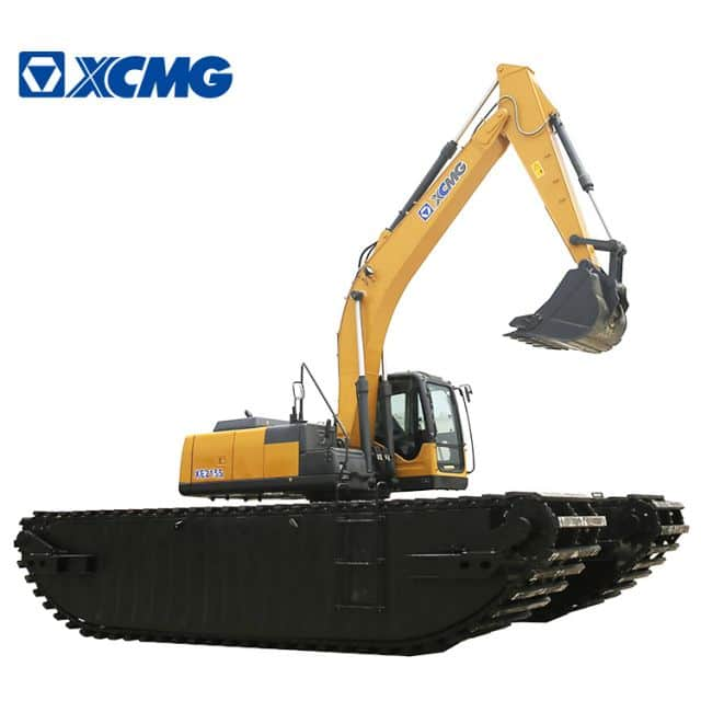 XCMG official 21 ton amphibious excavator XE215S crawler wetland swampy excavator equipment for sale