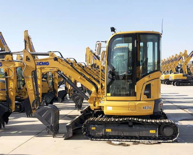 XCMG 3 Ton Mini Crawler Excavator China Excavator Machine XE35U With Attachments Price