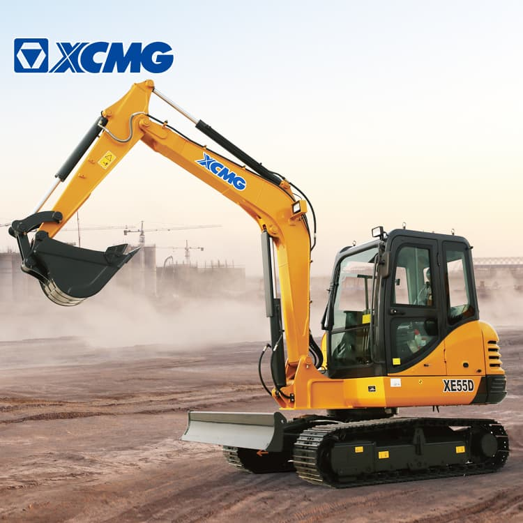 XCMG Official XE55D 5.5 Ton Small Excavator Machine For Sale