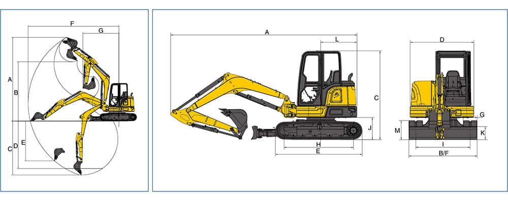 XCMG Official 5.5ton Hydraulic Excavator XE55E (Euro Stage V) for sale
