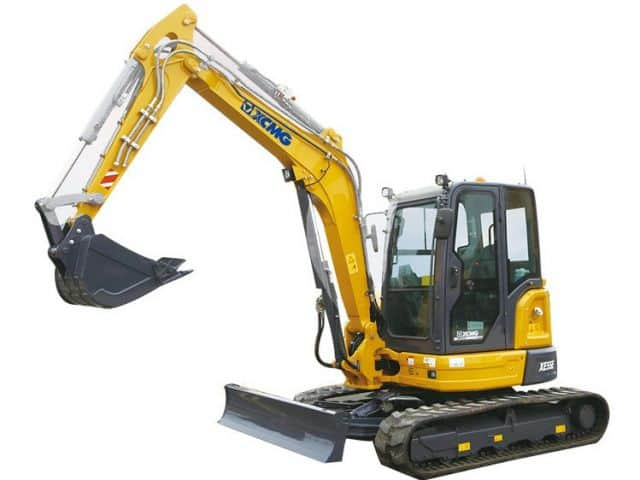 XCMG Official 5 Ton Mini Excavators XE55E China New Small Crawler Excavator With CE For Sale