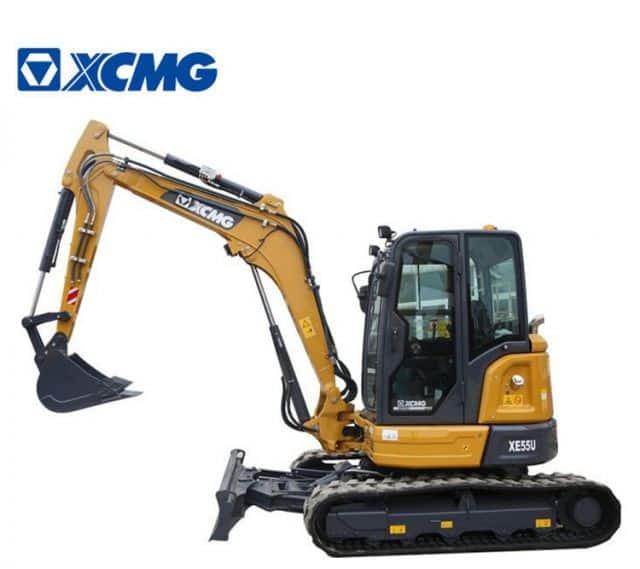 XCMG Small 5 Ton Excavator Crawler China Excavating Machinery XE55U For Sale