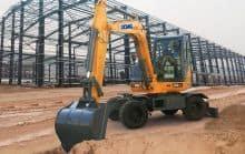 XCMG 6 ton mini wheel excavator XE60WA China small hydraulic wheel digger excavator machine for sale