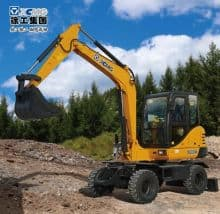 XCMG official manufacturer 6 ton small wheel excavator XE60WA made in China