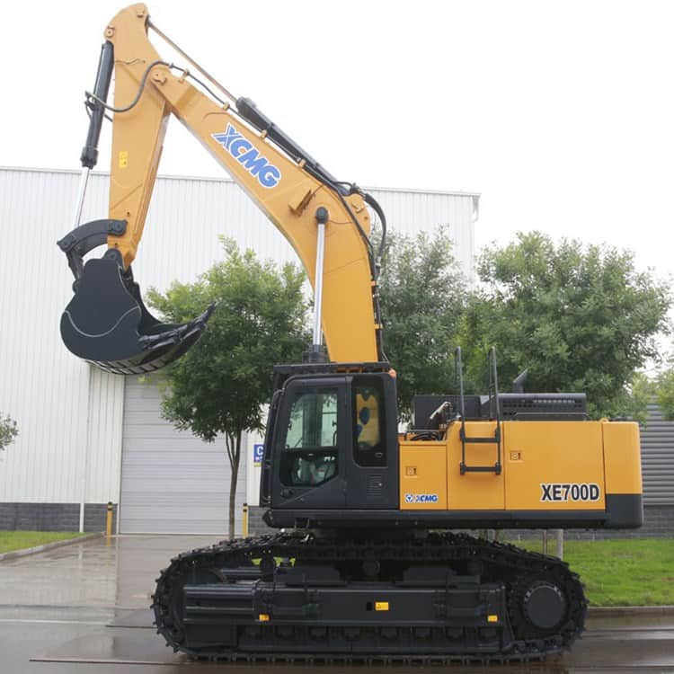XCMG 70 Ton Mining Crawler Excavator Bucket 4.6cbm XE700D With Hydraulic Breaker For Sale