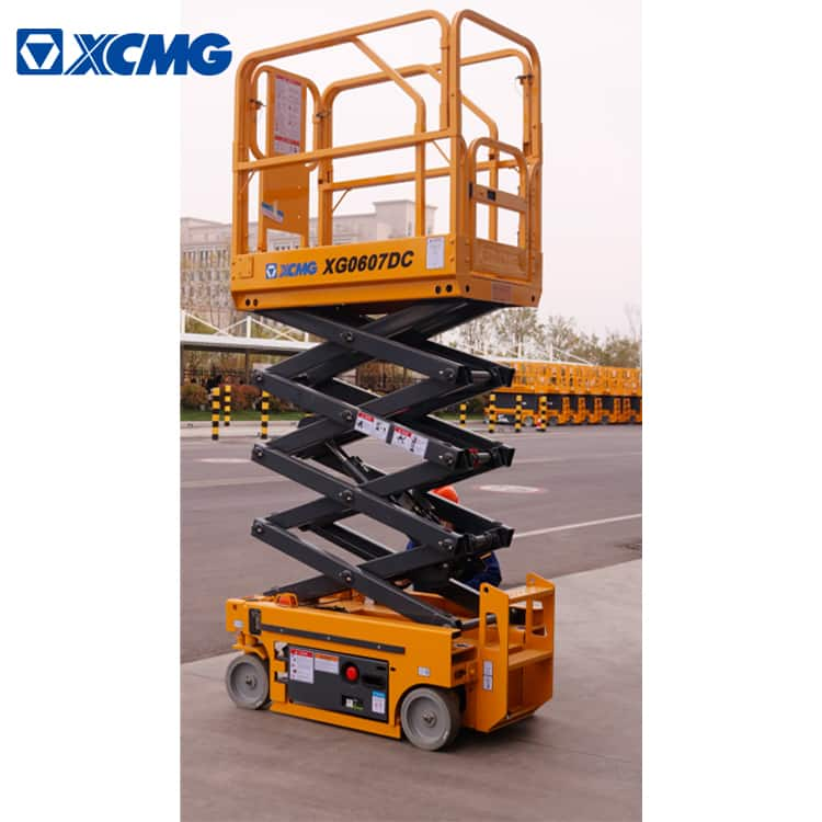 XCMG official 6m electric drive self propelled mobile scissor lift XG0607DC aerial platform price