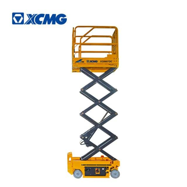 XCMG official 6m electric drive self-propelled mobile scissor lift XG0607DC aerial work platform price for sale
