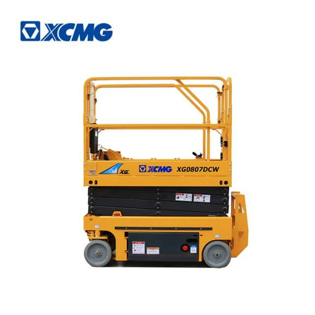 XCMG official manufacturer 8m mini china electric drive scissor lift XG0807DCW machine price