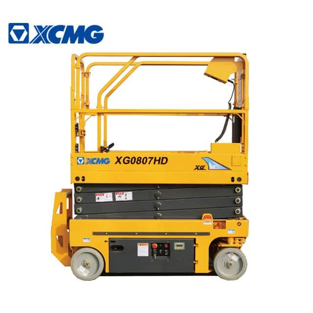 XCMG official 8m small self-propelled scissor lift XG0807HD China electric aerial working platform for sale