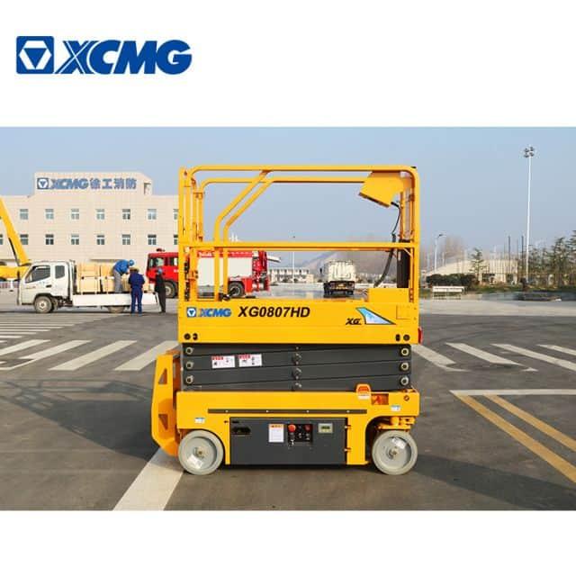 XCMG 8m small hydraulic scissor lift XG0807HD manlift platform