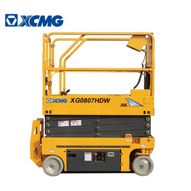 XCMG official 8m mini electric scissor lift XG0807HDW aerial working platform price for sale