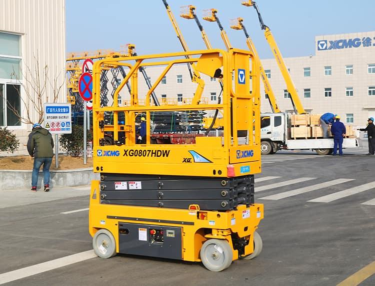 XCMG factory 8m mini self propelled hydraulic scissor lift XG0807HDW