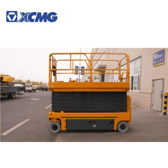XCMG 10m electric towable scissor aerial working platform manlift