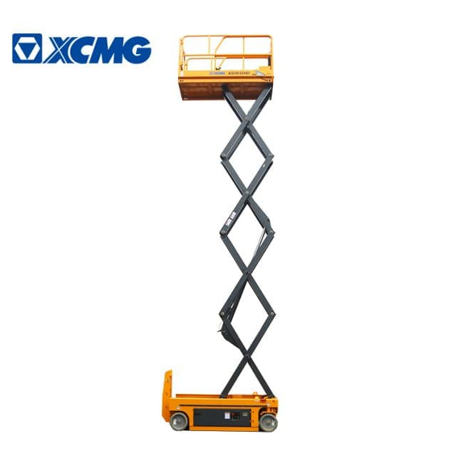 XCMG official manufacturer 10m hydraulic scissor lift XG1012HD aerial vertical working platform lift for sale