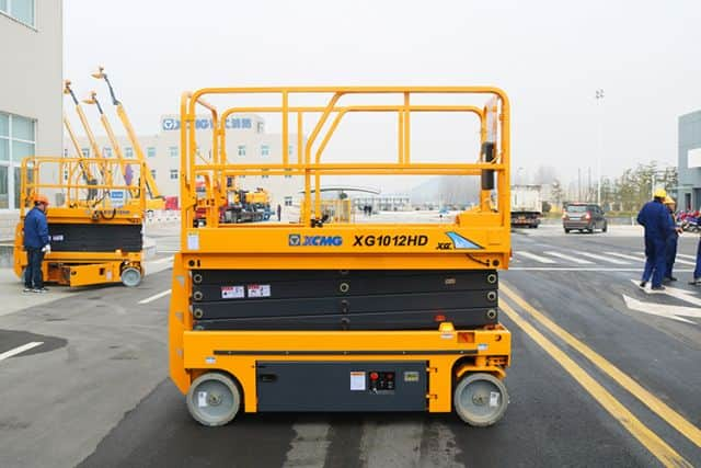 XCMG official 10m XG1012HD hydraulic scissor lift platform price