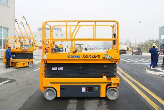 XCMG official 10m XG1012HD hydraulic scissor lift platform price