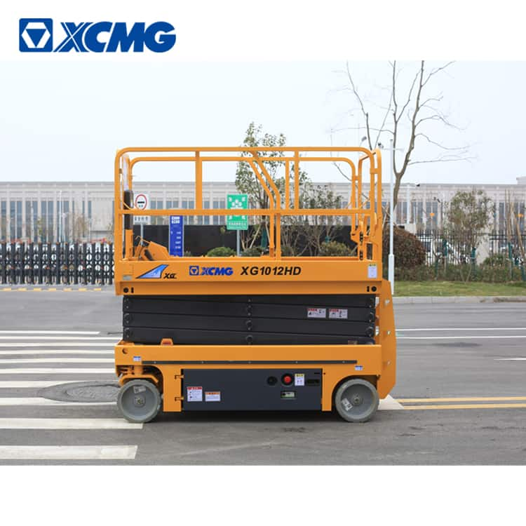 XCMG official 10m hydraulic scissor lift XG1012HD aerial vertical working platform lift for sale
