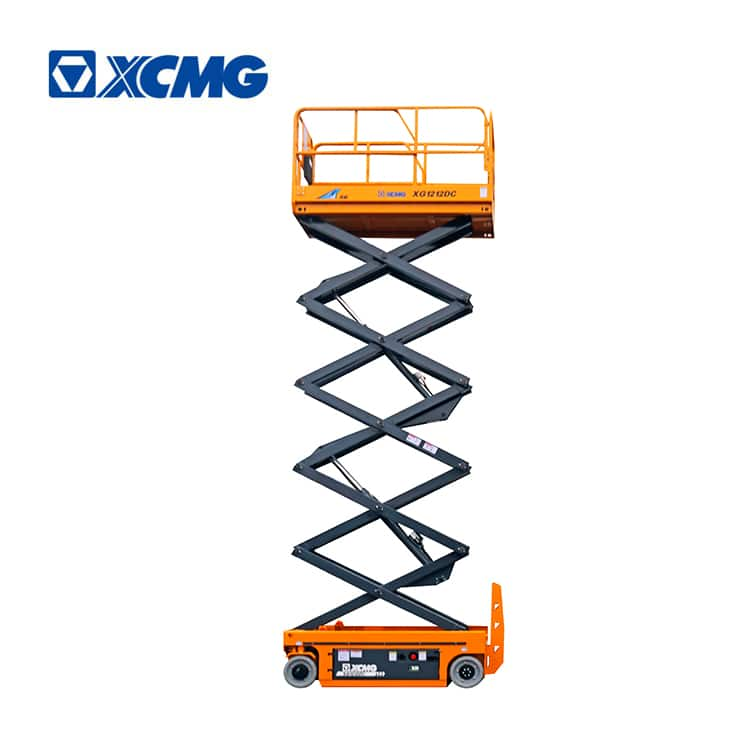 XCMG electric 12m manlift scissor aerial working platform lift XG1212DC price