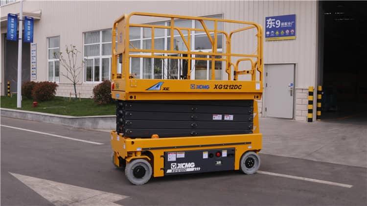 XCMG 12m electric scissor lift work platform XG1212DC for sale