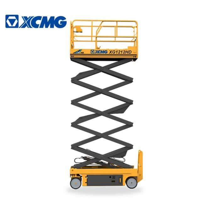 XCMG official 12m hydraulic scissor lift XG1212HD China electric aerial work equipment price for sale