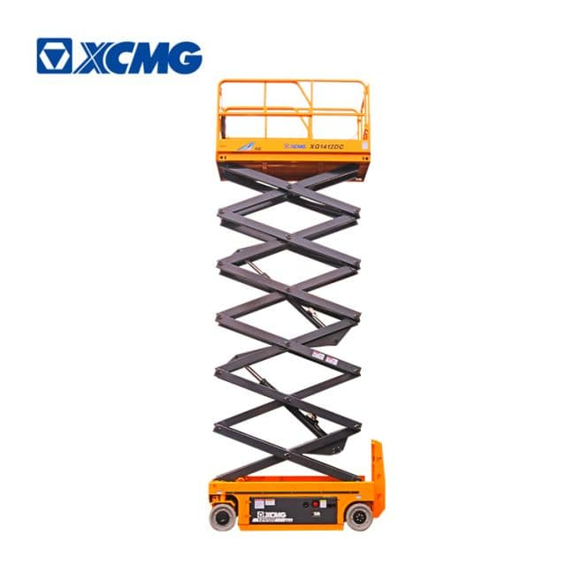 XCMG official 14m self propelled china electric drive scissor lift XG1412DC mobile machine price