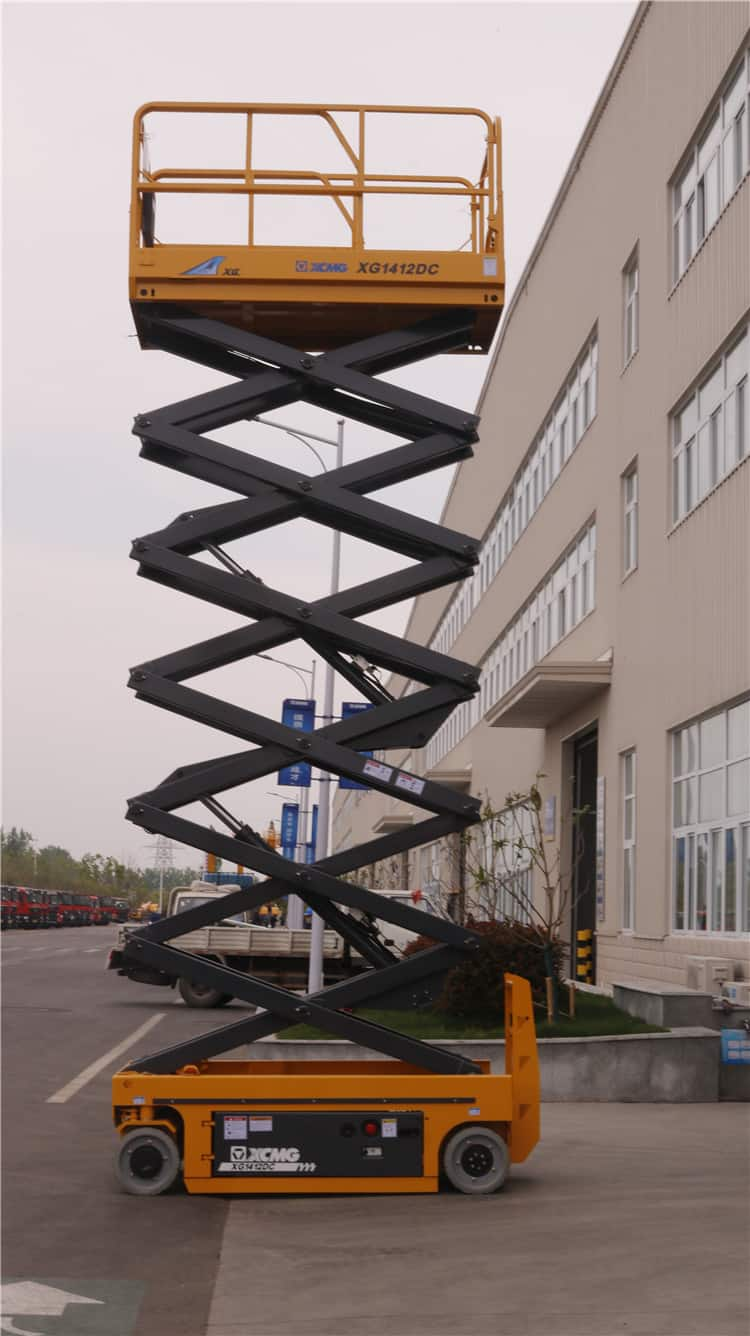 XCMG official 14m electric hydraulic manlift scissor lift XG1412DC for sale