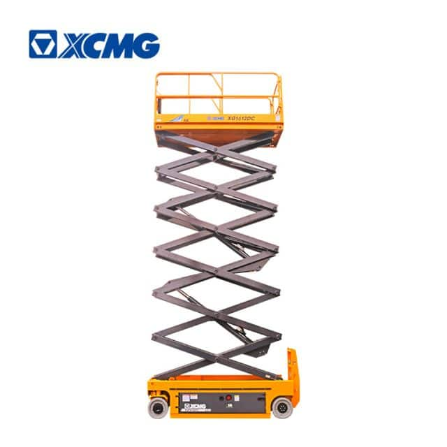 XCMG official manufacturer 16m china electric scissor lift equipment XG1612DC factory price for sale