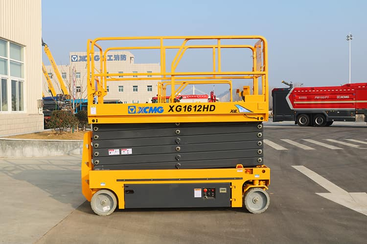 XCMG official 16m hydraulic electric scissor lift equipment XG1612HD lifting table price