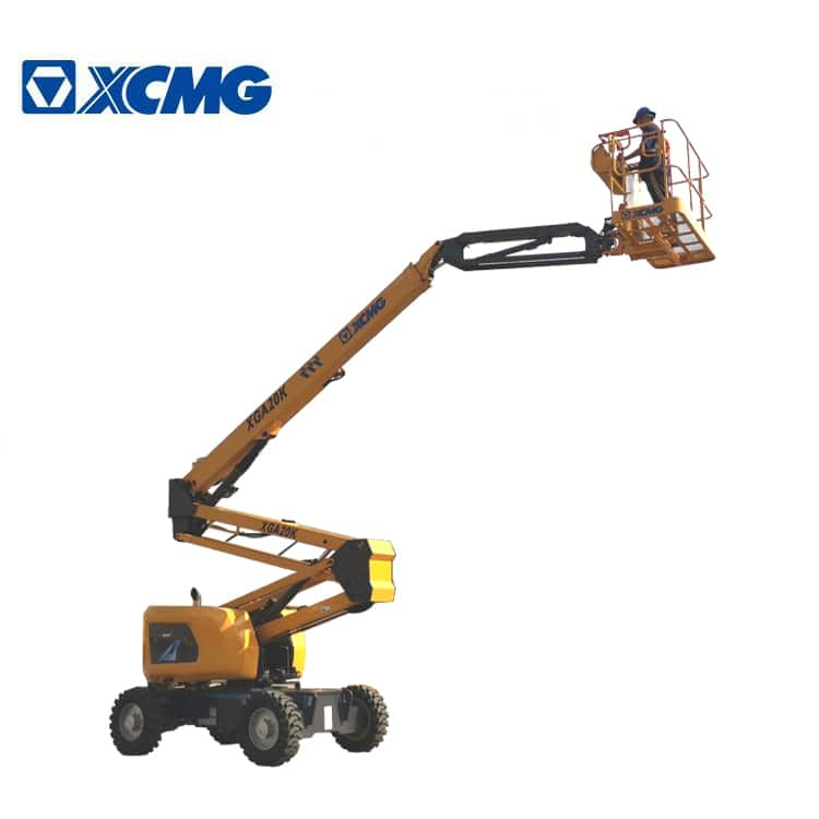 XCMG official 20m hydraulic articulated aerial towable boom lift XGA20K price