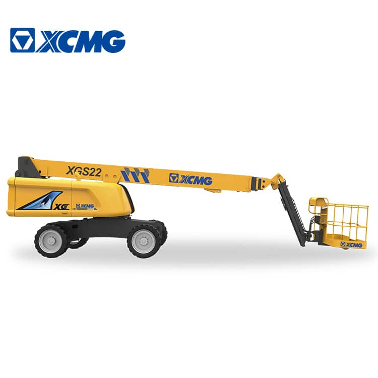 XCMG official 22m hydraulic telescopic boom lift XGS22 aerial mobile elevating work platform price for sale