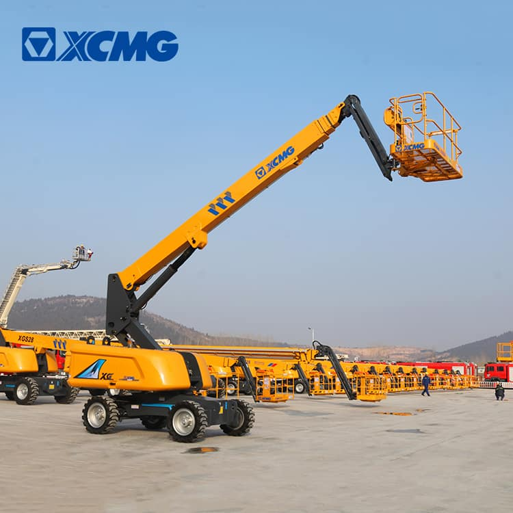 XCMG official 22m hydraulic towable telescopic boom lift XGS22