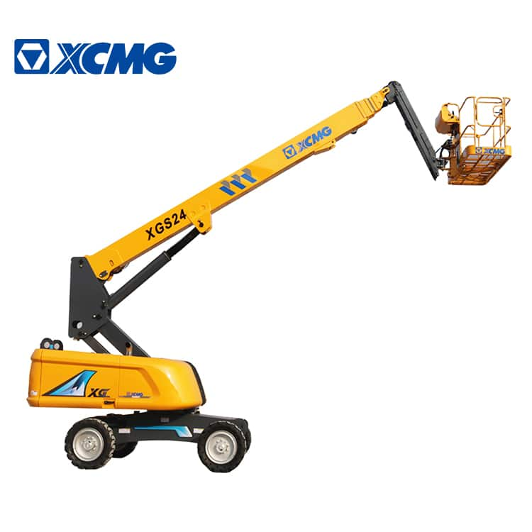 XCMG official manufacturer 24m self propelled telescopic boom lift XGS24 hydraulic mobile elevated work platform price for sale