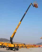 XCMG 24m China small self propelled telescopic boom lift XGS24