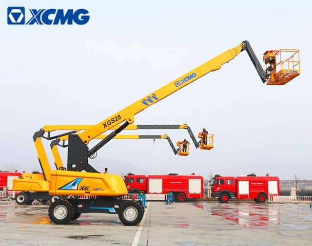 XCNG Official XGS28 Brand New 28m Telescopic Boom Aerial Work Platform for Sale