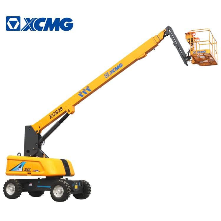XCMG elevated lift XGS28 28m hydraulic telescopic boom lift