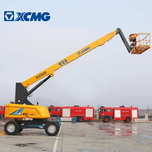 XCMG lift platforms XGS28 28m hydraulic telescopic booms lift price