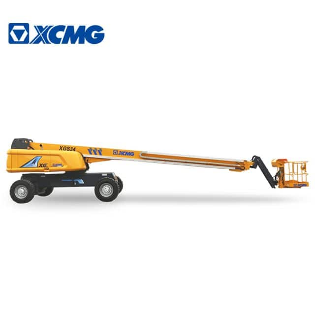 XCMG official 34m mobile self propelled telescopic boom lift XGS34 aerial elevated platform for sale