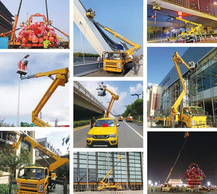 XCMG 12m folding boom lift platform truck SY5031JGKL-H2SBG9 advanced aerial platform truck price
