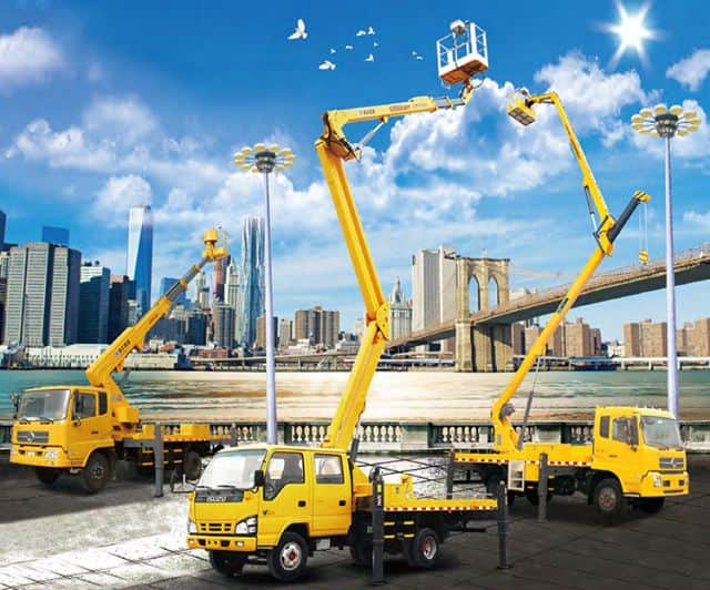 XCMG 18m mobile trailer mounted aerial lifting working platform truck XGS5071JGKQ6