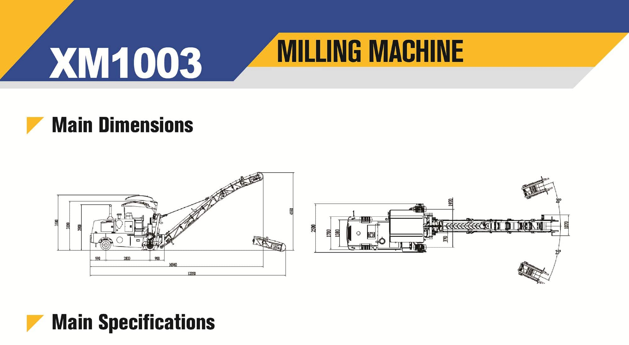 XCMG Official XM1003 Road Milling Machine for sale
