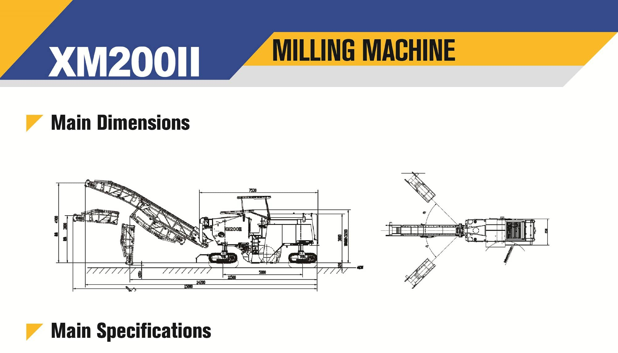 XCMG official XM200Ⅱ milling Machine for sale
