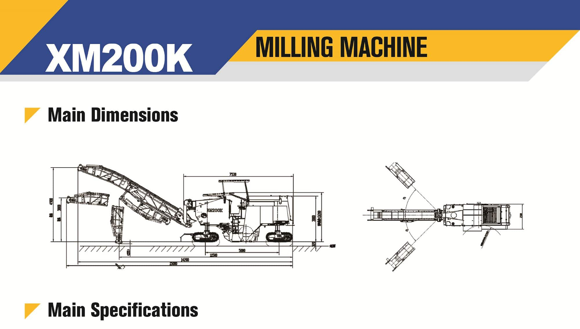 XCMG official XM200K milling Machine for sale