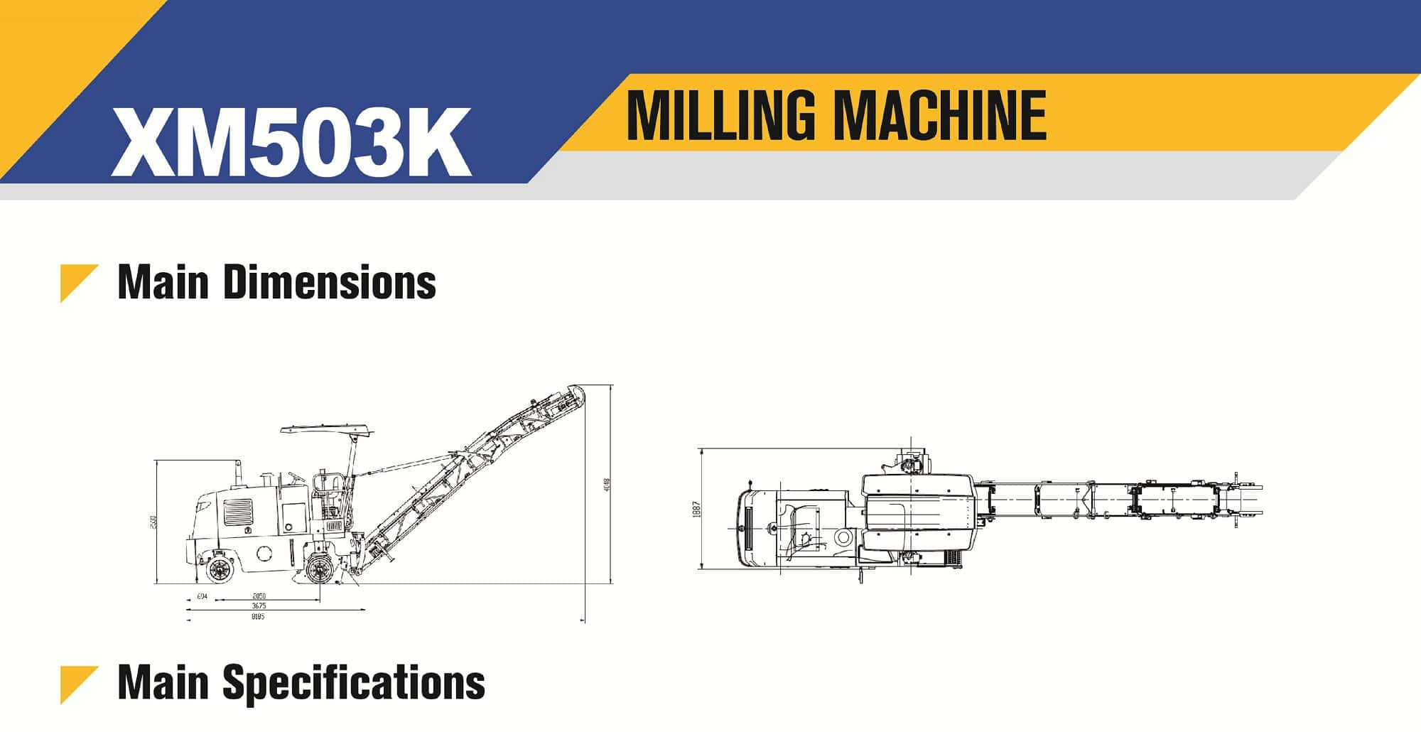 XCMG Official XM503K Pavement Milling Machine for sale