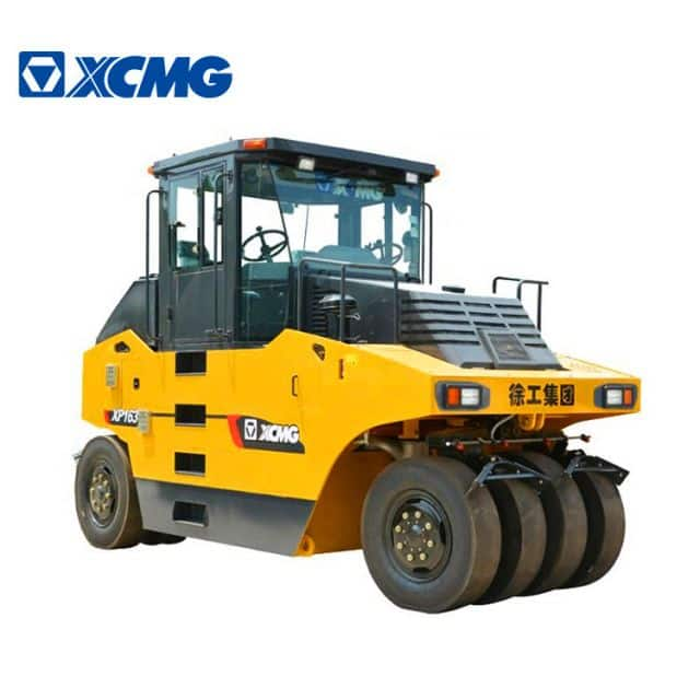XCMG original factory 16 ton small tyre rollers XP163 China new pneumatic tyre road roller price