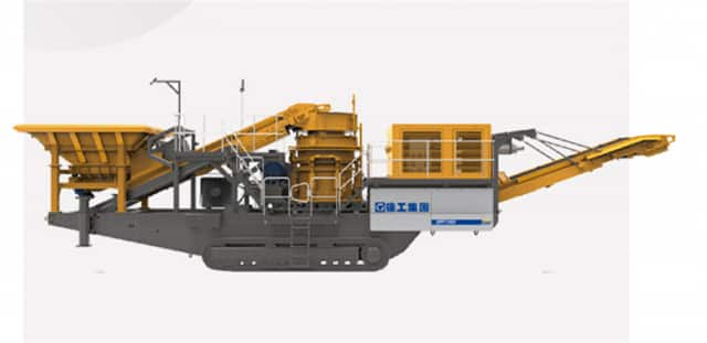 XCMG 495hp Mobile Rock Cone Crusher Machine Jaw Crusher Stone XPY1100 Price