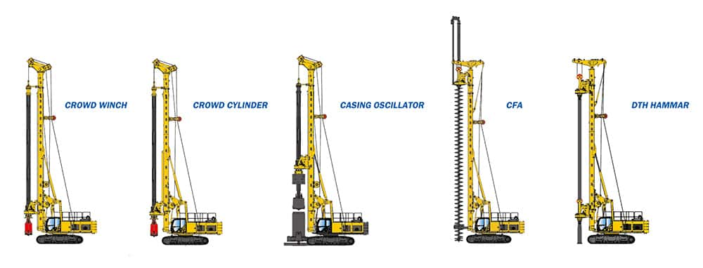 XCMG Official Multi-function Rotary Drilling Rig XR240E (Euro Stage IV) for sale