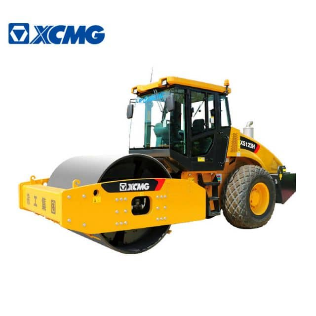 XCMG Official 12 ton vibratory road roller compactor XS123H new single drum vibration roller price