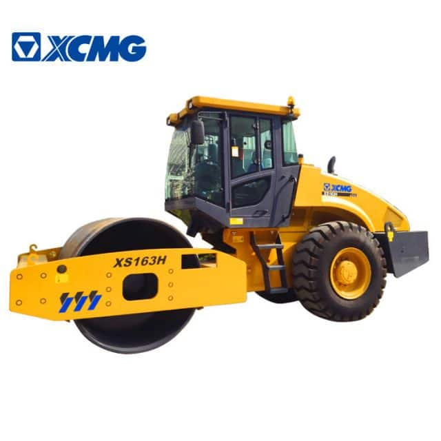 XCMG Official 16 ton single drum road rollers XS163H China hydraulic compactor machine price
