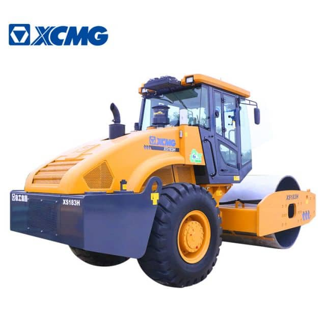 XCMG road equipment 18 ton vibratory roller XS183H single drum rollers compactor machine for sale